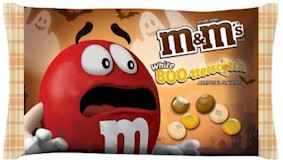 White BOO-terscotch M&M's
